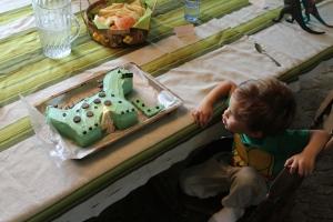 Dino-four bday cake